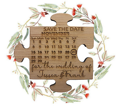 AU89.99 • Buy Personalised  Save The Date Engagement / Wedding Invitations Magnets    X50 Pack
