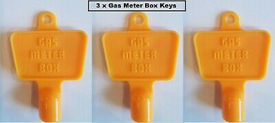 £4.99 • Buy 3 X Yellow Service Utility Meter Key Gas Electric Box Cupboard Cabinet Triangle