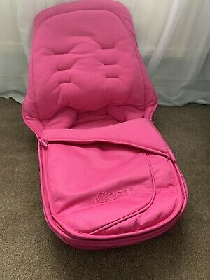 New Footmuff - ICandy Apple 2 Pear Luxury Footmuff Cosytoes - Pink Lipstick • 25£