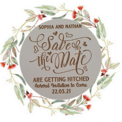 AU59.99 • Buy Personalised  Save The Date Engagement / Wedding Invitations Magnets    X50 Pack