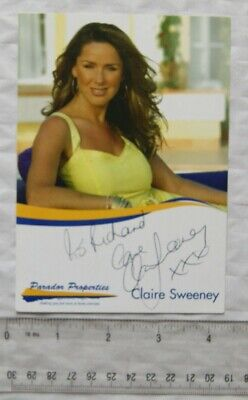 £2.50 • Buy Signed Picture Claire Sweeney - Parador Properties