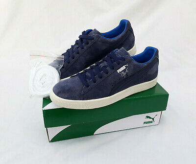 Puma Clyde Suede Navy Blue White Retro Trainers UK8 / EUR42 *BNIB* • 39.99£