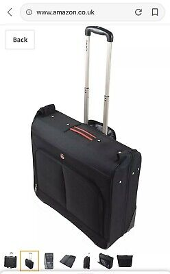 Wenger SwissGear Wheeled Rigid Suit Carrier/Case In Black • 30£