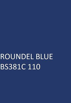 £16.45 • Buy ROUNDEL BLUE BS381C 110 Agricultural Machinery Equipment Enamel Gloss Paint