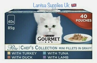 Gourmet Perle Cat Food Chef's Collection 40 X 85g • 19.47£