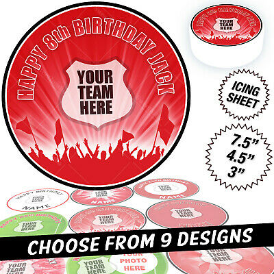 Manchester United Man Utd Cake Topper Personalised Round Circle Edible Icing • 2.99£