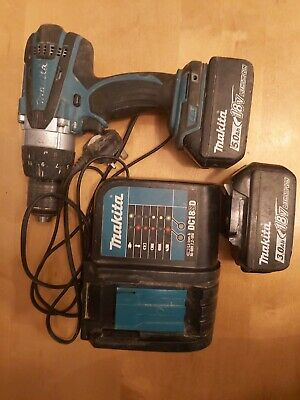 Makita Dhp458 Drill 5.0 And 3 Ah  Ah  Battery With Charger • 135£