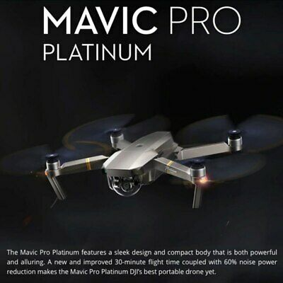 AU1801.86 • Buy DJI Mavic Pro Platinum Drone 1080P Camera 4K Video RC Helicopter FPV Quadcopter.