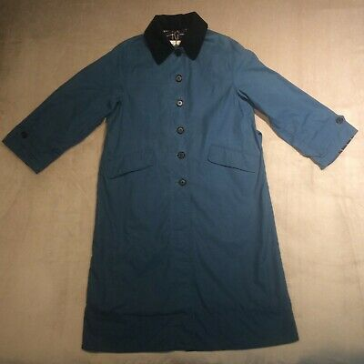 AU514.89 • Buy Barbour By Alexa Chung Maisie Wax Cotton Jacket Denim Blue Size 10 Belted Coat