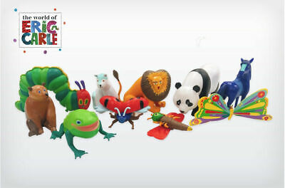 The World Of Eric Carle Cake Toppers 10 Plastic Figures Bn Free P+p - Uk Stock • 8.99£