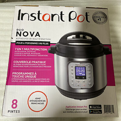 $ CDN87.95 • Buy Instant Pot Duo Nova 8 Quart 7-in-1 Pressure Cooker - Silver (113-0021-01)