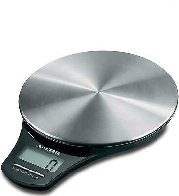 Salter Stainless Steel Digital Kitchen Weighing Scales - Electronic Cooking • 25.99£