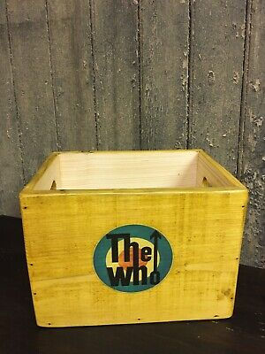 """£28.99 • Buy 7 Inch Vinyl Record Storage Case 7"""" Singles Box 120 Sleeves THE WHO Label"""