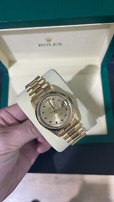 £14000 • Buy Rolex Day Date 36mm 18238 Diamond Ruby String Dial 1998 Box And Paper