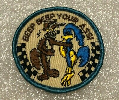 Vintage Original Beep Beep Your A** Road Runner Patch • 17.20£