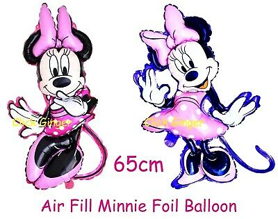 AU3.50 • Buy Minnie Mouse Foil Balloon Air Fill 65cm 1st Birthday Garland Decoration