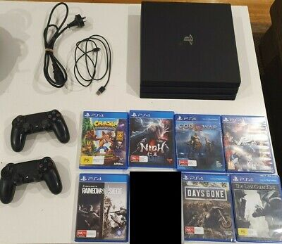 AU475 • Buy Sony PlayStation 4 Pro 1TB Black Console (2 Controllers, 7 Games)