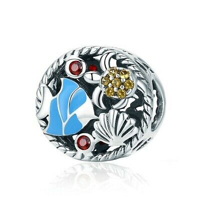 AU26.99 • Buy SOLID Sterling Silver Oceanic Coral Reef Fish Turtle Charm By Pandora's Wish