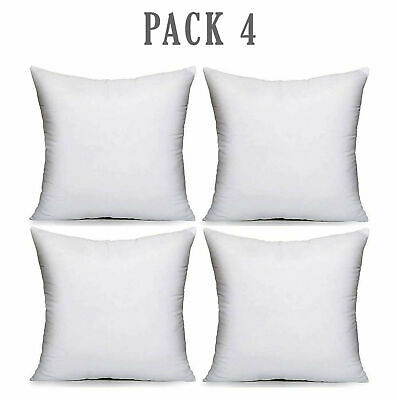 £7.24 • Buy Pack Of 4 Extra Deep Filed 18x18 Inches Cushion Pads Inserts Fillers Scatters