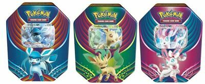 AU43.95 • Buy Pokemon TCG Tin Eevee Leafeon Glaceon Sylveon - SEALED XY Evolutions Boosters?