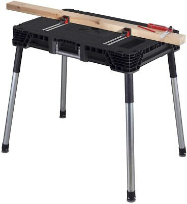 Keter Jobmade Portable Work Bench And Miter Saw Table For Woodworking 17202215 • 74.99£