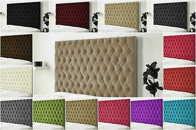 Top Quality Luxury Colchester Bed Headboard In Chenille Fabric S D K SK 30  Inch • 62.99£