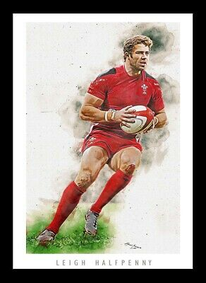 £13 • Buy Leigh Halfpenny - Wales Rugby - Artwork Portrait - A3 Print
