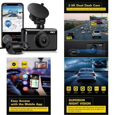 AU175.94 • Buy Dual Dash Cam 1440P  1080P 【Built-In Gps  Wifi】, Front And Rear Camera For Car