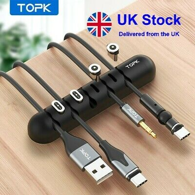 £2.50 • Buy Cable Organizer USB Holder Desk USB CHARGER CABLES Holder Wire Drop Lead Holder