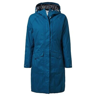 Craghoppers Women's Mhairi Long Waterproof Jacket Various Colours CWP996 • 75£