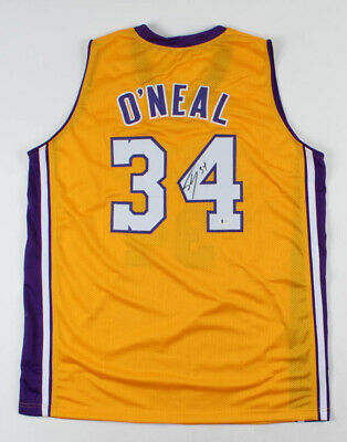 AU375 • Buy Shaquille O'Neal Signed Signed Jersey Beckett COA NBA Lakers HOF