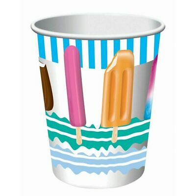 Popsicle Summer Luau Theme Beach Pool Party 9 Oz. Paper Cups • 6.57£