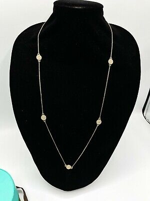 $ CDN24.35 • Buy Kate Spade Women Crystal Pave Necklace W/ Dust Bag Gold Tone Jewelry 15.5  Drop