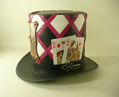 £168.65 • Buy Mad Hatter's Handcrafted Genuine Leather & Copper Lock Tall Top Hat Masterpiece