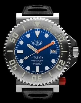 $ CDN2010.48 • Buy NEW Store DIsplay Squale 30 ATMOS Tiger Blue 44mm Watch - 2 Year Warranty