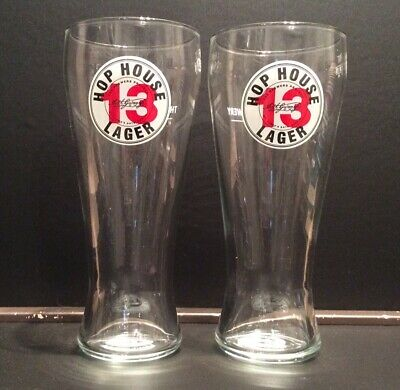 Hop House 13 Lager Pint Glasses X2 New And Unused • 7.95£