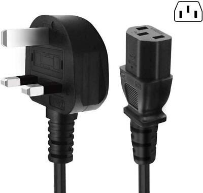 2M IEC Kettle Lead Power Cable 3 Pin UK 6 AMP Plug PC Monitors Printers C13 Cord • 4.59£