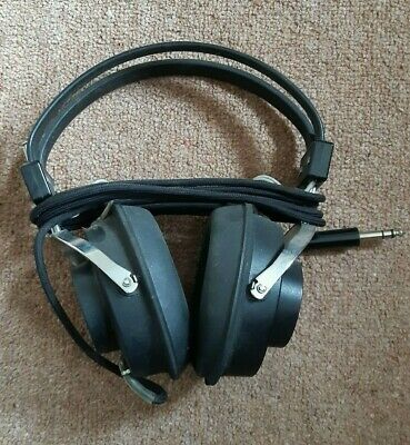 Vintage 70s Sony DR-5A Over Ear Cup Wired Headband Stereo Headphones HiFi  • 45£