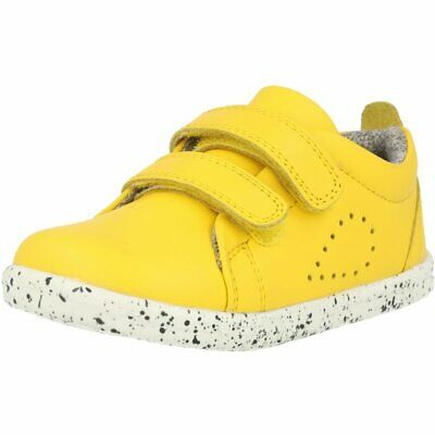 Bobux I-Walk Grass Court Lemon Leather Infant First Walkers Shoes • 42.84£