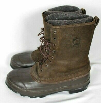 LaCrosse Mens Brown Leather Pac Boots W/Wool Liners Sz 11 • 57.88£