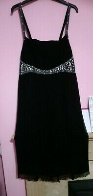 Debenhams John Rocha  Black Floaty  Dress Size 16 • 5£
