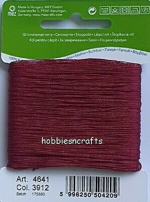 £1.75 • Buy BURGUNDY COATS 100% COTTON Thread For Hand Sewing Darning & Mending - 20 Metres