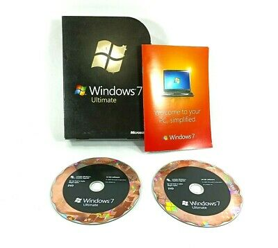 Microsoft Windows 7 Ultimate 32 & 64bit Full Retail: (USED ~ W/Product Key) • 72.36£