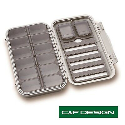 C & F Design Large 5-Row 12 Compartment Fly Box (CF-3305N) ** 2021 STOCKS ** • 44.99£