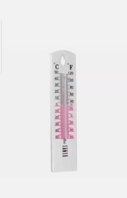 WALL THERMOMETER Fahrenheit & Celsius Inside Outside Lab Garden/Home Office Room • 2.99£