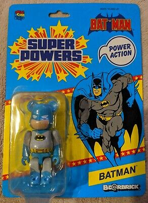 $49.99 • Buy 2012 Sdcc Dc Batman 100% Bearbrick Figure Medicom Grey Super Powers New Sealed