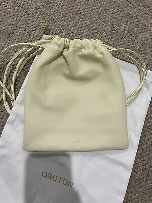 AU120 • Buy Oroton Lilia Crossbody Leather Pouch Bag In Pale Lemon - New With Tags