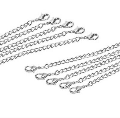 £4.29 • Buy Silver 1' To 34' Inch Clip On Chain Extender Extention For Necklace Bracelet Uk