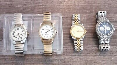 $ CDN44.29 • Buy Vintage Lot Of 4 Mens Watches TIMEX Fossil NEED NEW BATTERIES Wind Up