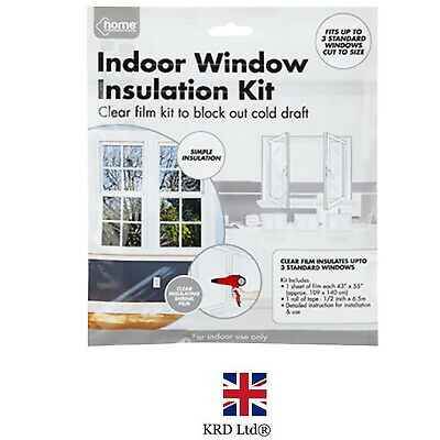 £3.35 • Buy Window Insulation Kit Double Glazing Shrink Films Draught Excluder Condensation
